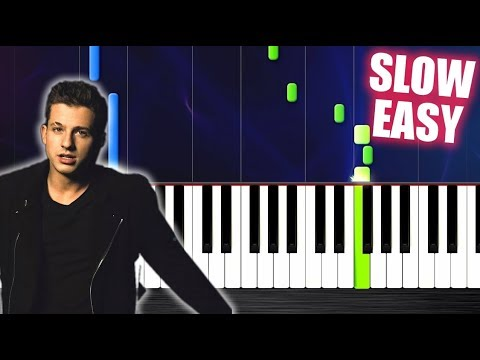 Charlie Puth - Attention - SLOW EASY Piano Tutorial by PlutaX