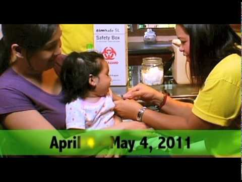 Philippines To Launch Free Measles Vaccination (2011 Ligtas Tigdas Campaign)