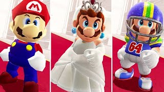 Super Mario Odyssey - All Bowser's Reactions to Mario Costumes + Invisible Mario Vs. Final Boss