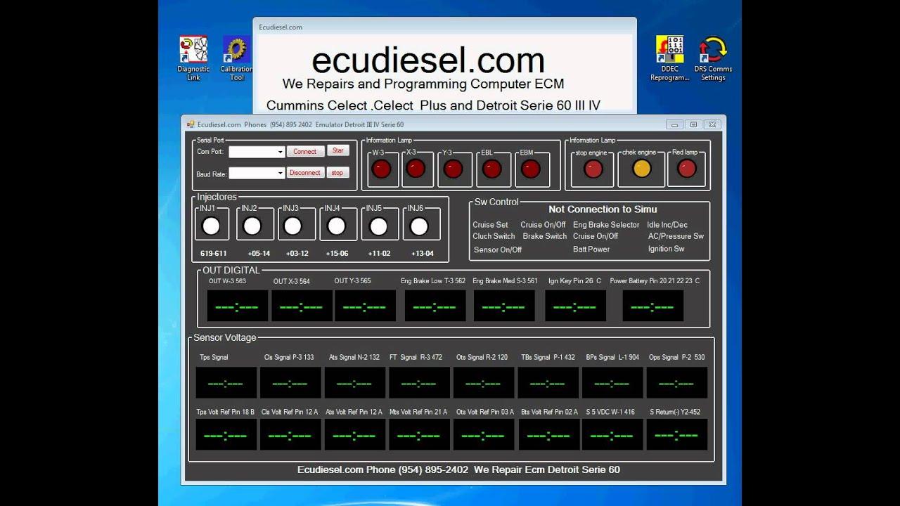 Detroit Serie 60 Iii Iv Ecm Youtube Ddec 6 Wiring Diagram Premium