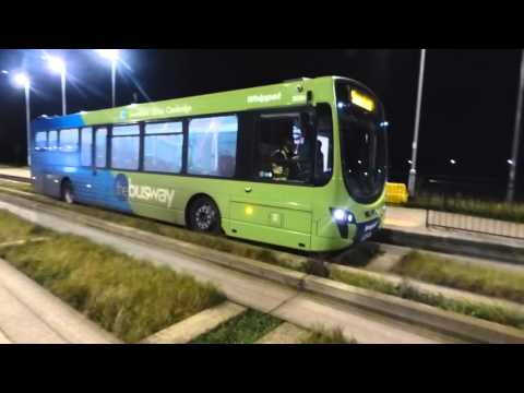 Cambridge Guided Busway At Night