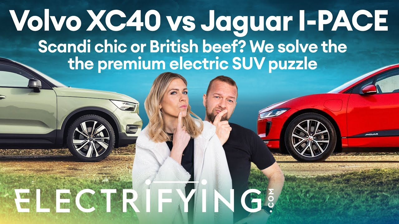 Volvo XC40 Recharge electric vs Jaguar I-PACE - Scandi chic or British beef? / Electrifying