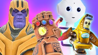 Can Thanos' INFINITY GAUNTLET kill ROBOTS in Gmod?