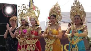 Thai Dancers in Colourful Costumes at the Lancing Thai Festival, UK, 2018 - Day 2