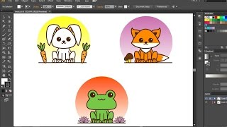 How to Creat Easy Cute Animals Using Adobe Illustrator