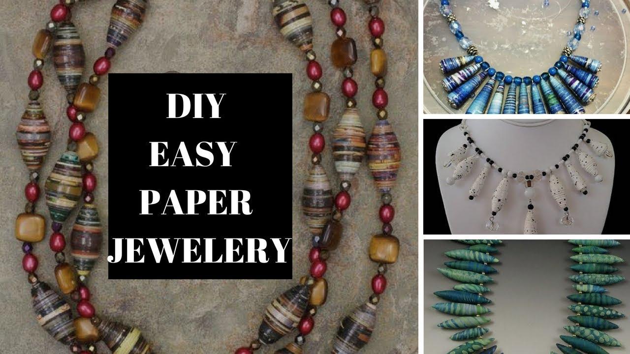 Easy DIY Paper Jewellery - YouTube