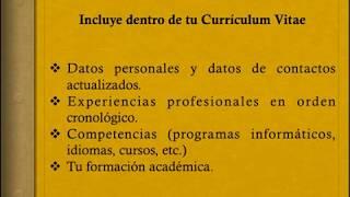 Cómo elaborar un Curriculum Vitae  2020