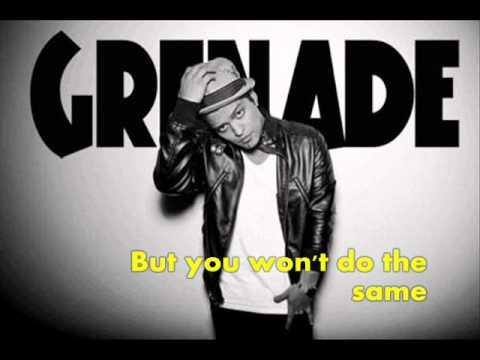 Grenade by Bruno Mars *instrumental* with lyrics ON SCREEN!!