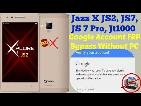Google Account Bypass QMobile JaZZ X JS-2 (FRP) Bypass -Done