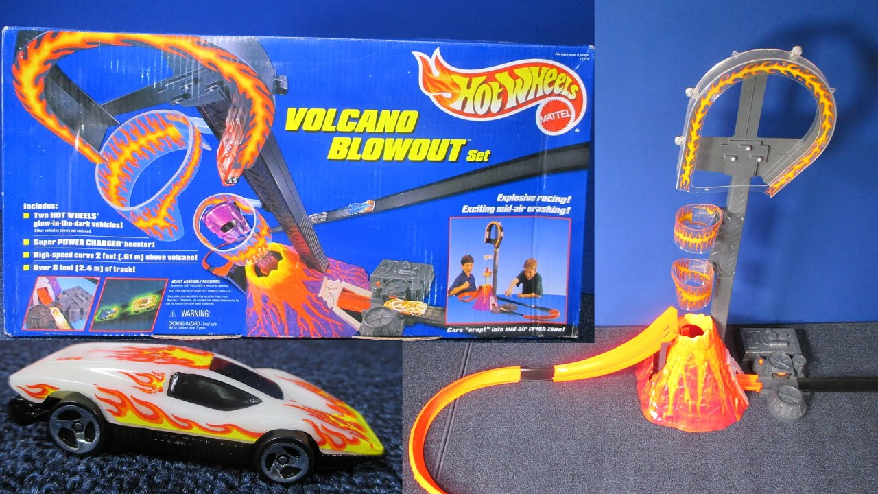 Hot Wheels Volcano Blowout Vintage Track Set Works With