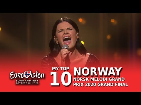 🇳🇴My Top 10 - Norsk Melodi Grand Prix 2020 Grand Final (Norway Eurovision 2020)