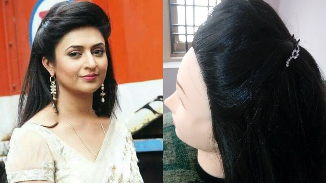 2.divyanka tripathi/ishita bhalla inspired front puff hairstyle easy and simple hairstyle for women