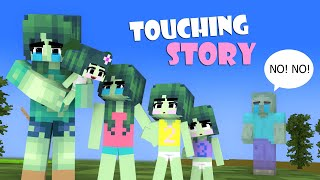 """Zombie Family Sad Story: """"How to live without DADDY Zombie?"""": VERY TOUCHING MINECRAFT ANIMATION"""