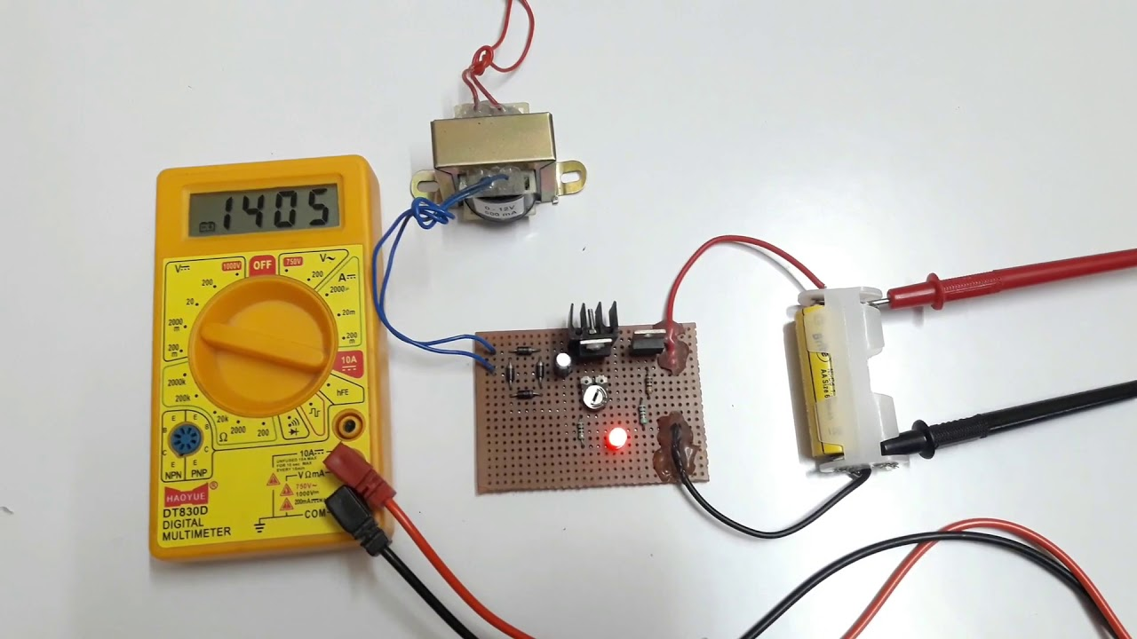 Simple Battery Charger Circuit Ni Cd Youtube