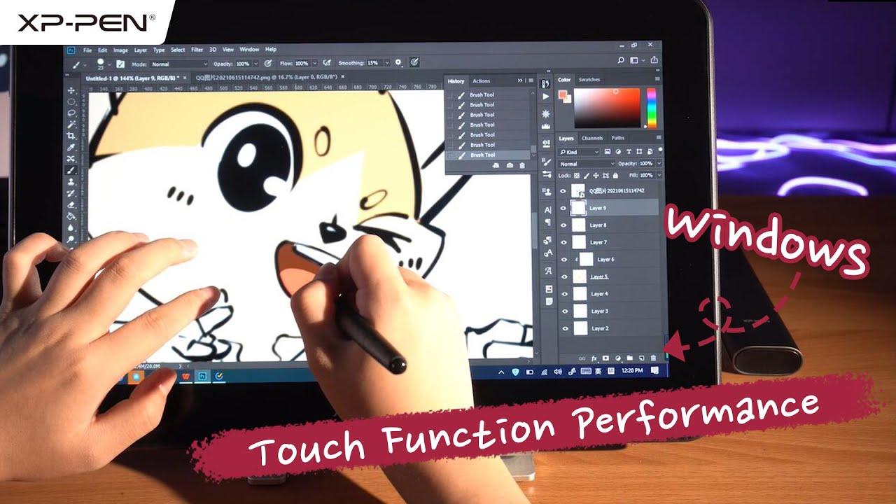 Using Artist Pro 16TP on the Windows computer