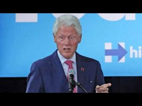 Bill Clinton says Trump's campaign slogan is racist