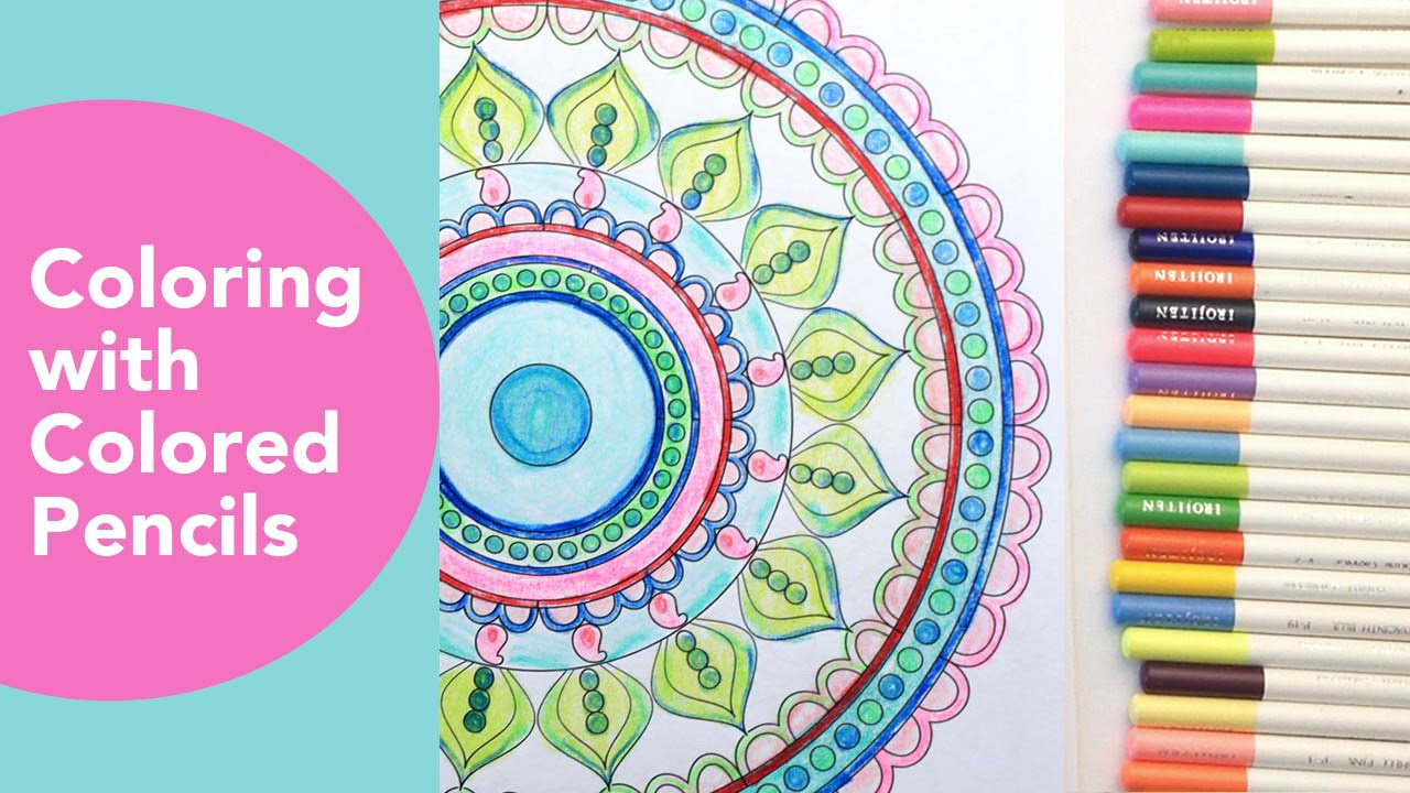 coloring with colored pencils tombow irojiten pencils mandala blue star coloring youtube