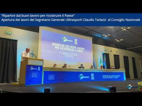 Il Segretario Generale ClaudioTarlazzi, ha aperto i lavori del Consiglio Nazionale a Lecce.