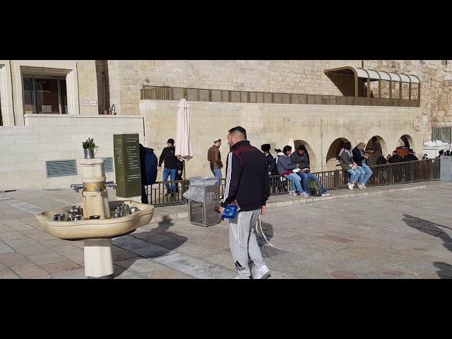 Handwashing in Judaism - Why? - Wailing Wall (the Western Wall, Kotel), Jerusalem, Israel
