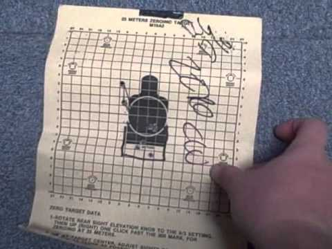 picture about Ar15 25 Yard Zero Target Printable named 25 METER ZERO Goals (5.56MM)