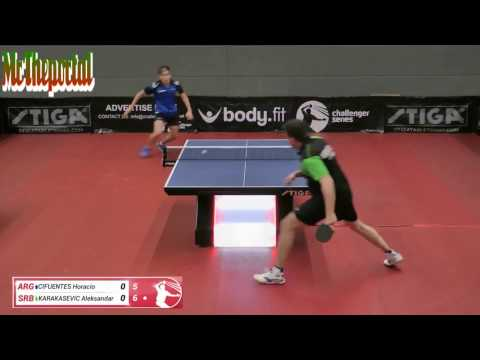 Table Tennis Challenger Series 2017 - Aleksandar Karakasevic Vs Horacio Cifuentes -