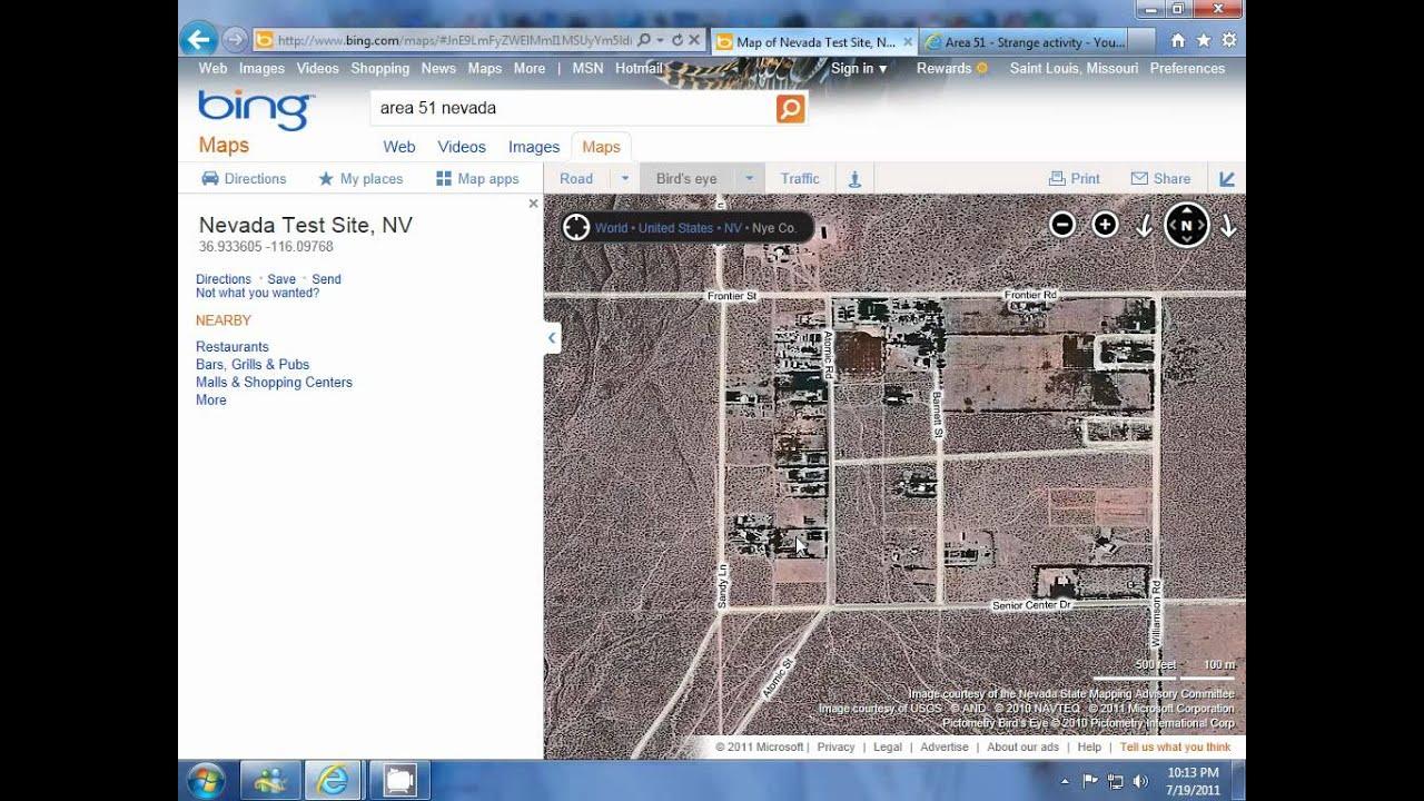 Area 51 (Bing Maps - Bird\'s Eye View) - YouTube