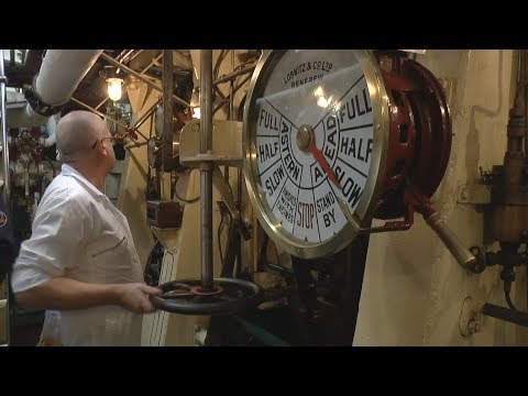 Ship Engine Room - Triple Expansion Steam Engines - 'SS Shieldhall'