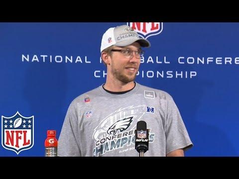 "Nick Foles' NFC Championship Postgame Presser, ""Everyone down Broad Street heard that""   NFL"