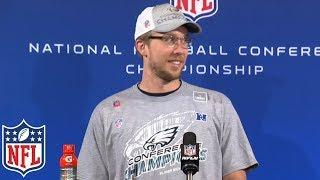 "Nick Foles' NFC Championship Postgame Presser, ""Everyone down Broad Street heard that"" | NFL"
