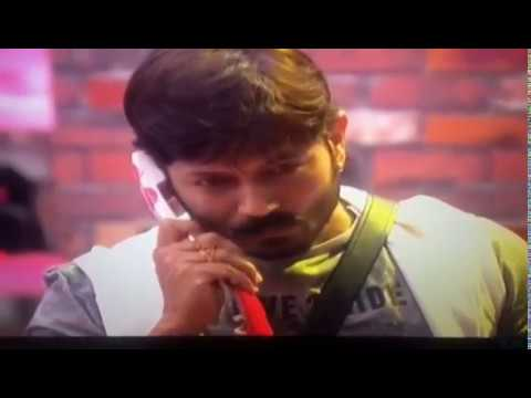 biggboss winner kaushal  emotional phone call!!!!