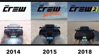 The Crew vs The Crew WildRun vs The Crew 2 - graphics & sound comparison