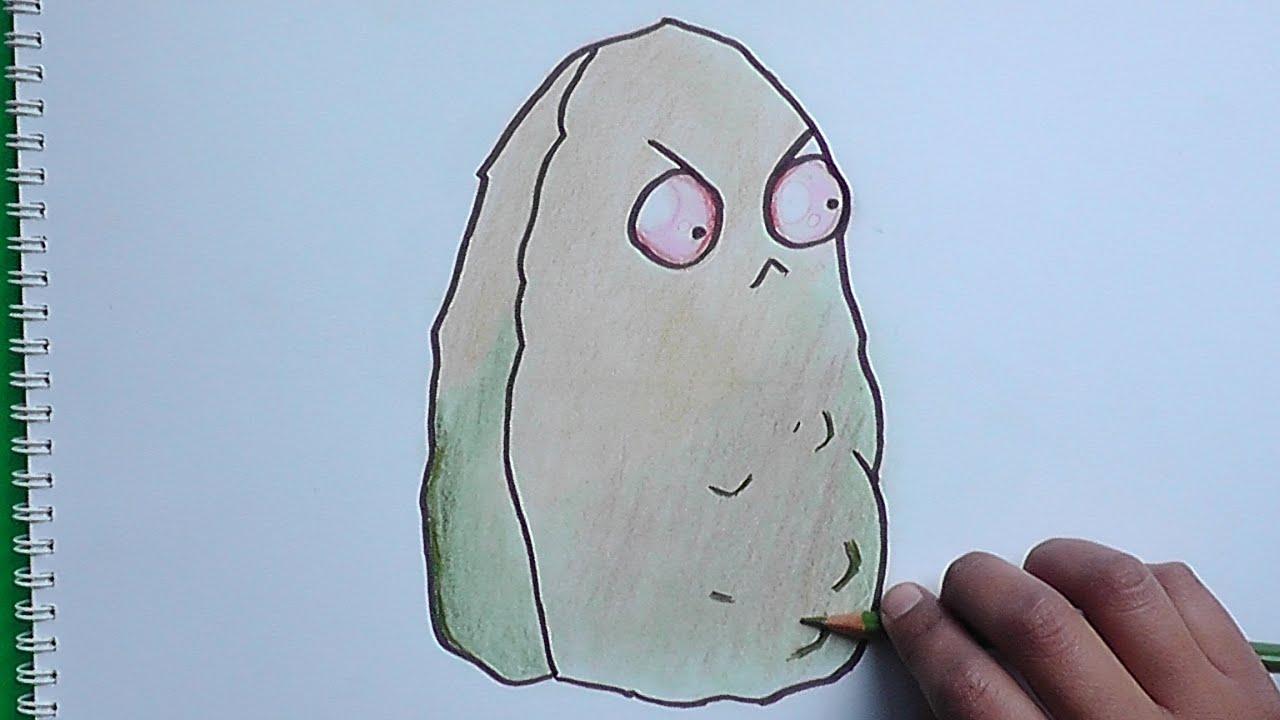 Dibujando y coloreando a Nuez Gigante (Plantas vs Zombies