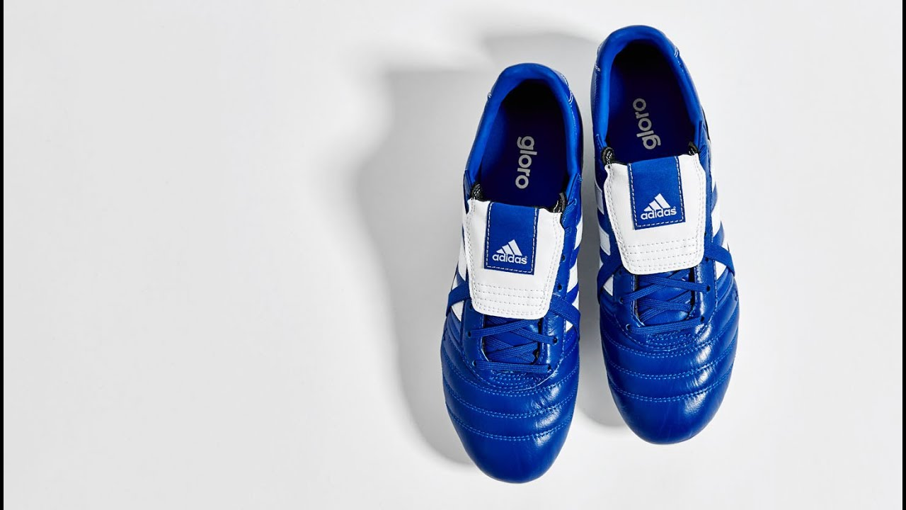 6c361008b387 Football Boots Adidas Gloro 15.1 with Blue and White Colors - YouTube