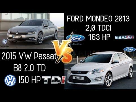 Ford Mondeo  2.0 TDCI 163  HP VS 2015 VW Passat B8 2.0 TDI 150HP -