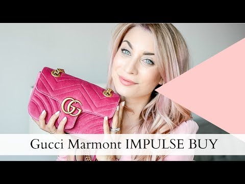 PINK Gucci Mini Velvet Marmont | Review + What Fits Inside | Joëlle Anello