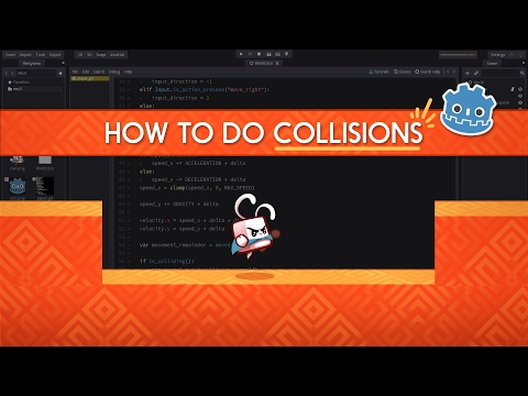 How to make collisions work - Godot 2 tutorial