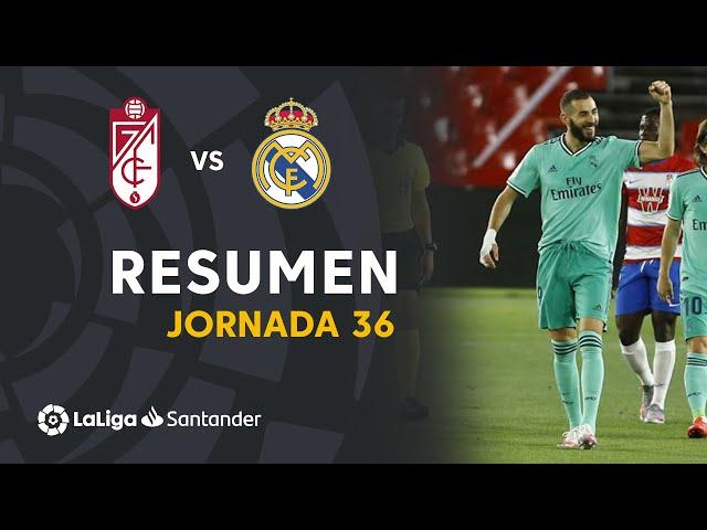 Resumen de Granada CF vs Real Madrid (1-2) - LaLiga Santander