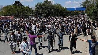 Afganistan'da rotası değiştirilen enerji nakil hattı protesto edildi