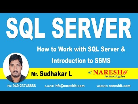 How to Work with SQL Server and Introduction to SSMS Part-1   MSSQL Training