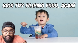 "KIDS REACT TO ""MORE"" FILIPINO FOOD REACTION"
