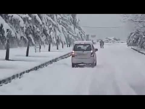 Dal Lake View After Snowfall, Srinagar (Kashmir)