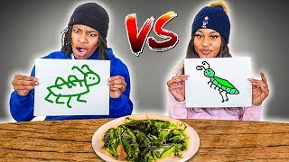WHOEVER MAKES THE WORST DRAWING EATS CHALLENGE!