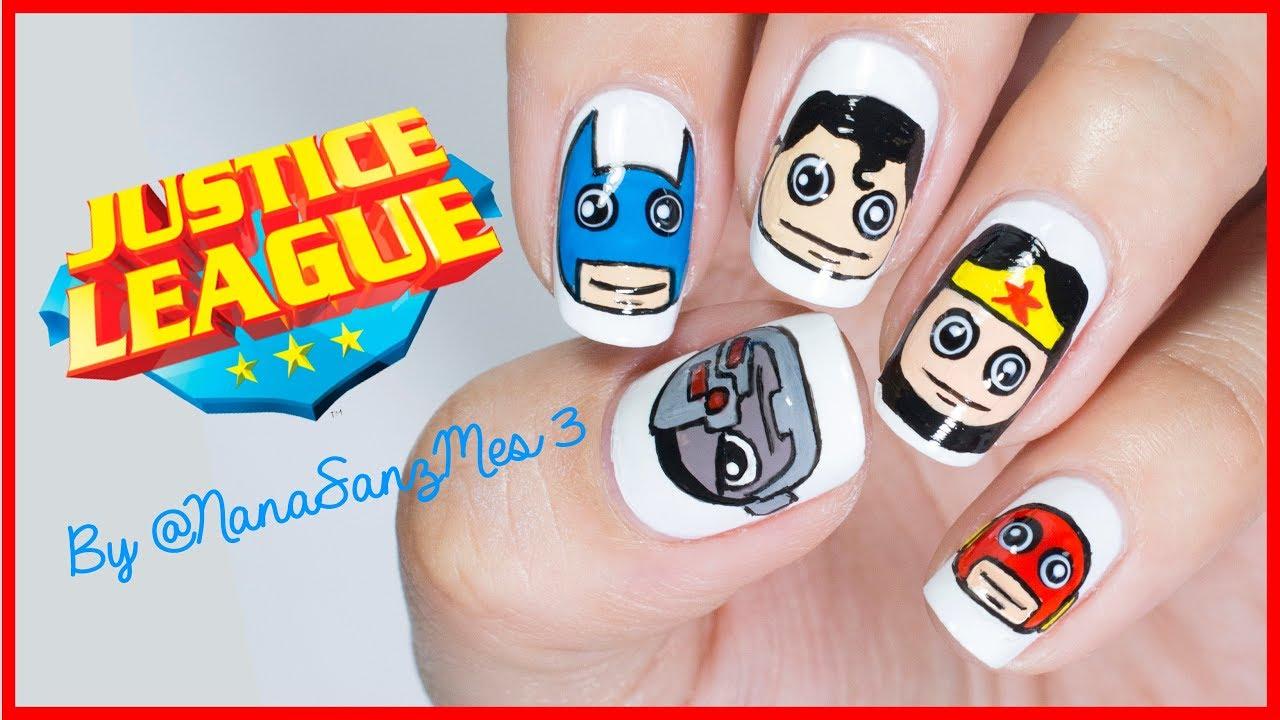 Justice League Nail Art design - NanaSanzMes3 - YouTube