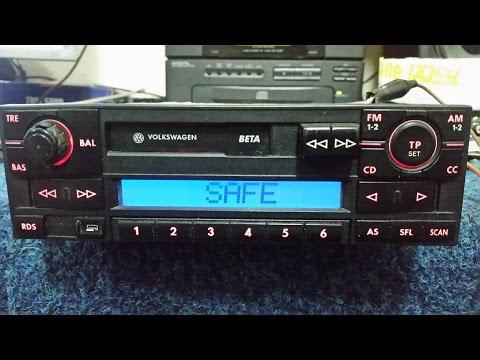 "VOLKSWAGEN BETA BLAUPUNKT VWZ1Z2 RADIO code unlock ""original code"""