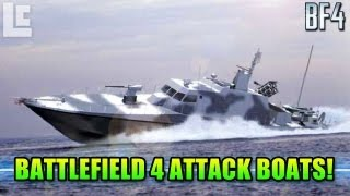 BF4 Attack Boat Gameplay & Customizations! (Battlefield 4 Gameplay/Commentary)
