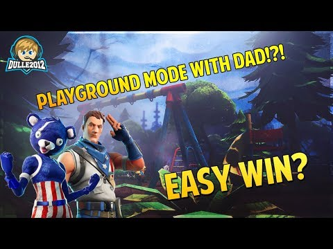 🔴 Möter farsan i Playground😄 // 6 year old gamer // 69 wins // Fortnite Battle Royale