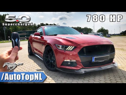 780HP Ford Mustang GT SUPERCHARGED REVIEW POV Test Drive on AUTOBAHN (NO SPEED LIMIT) by AutoTopNL