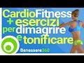 Cardio Fitness + Esercizi per Dimagrire e Tonificare. Brucia Grassi e Calorie a Casa