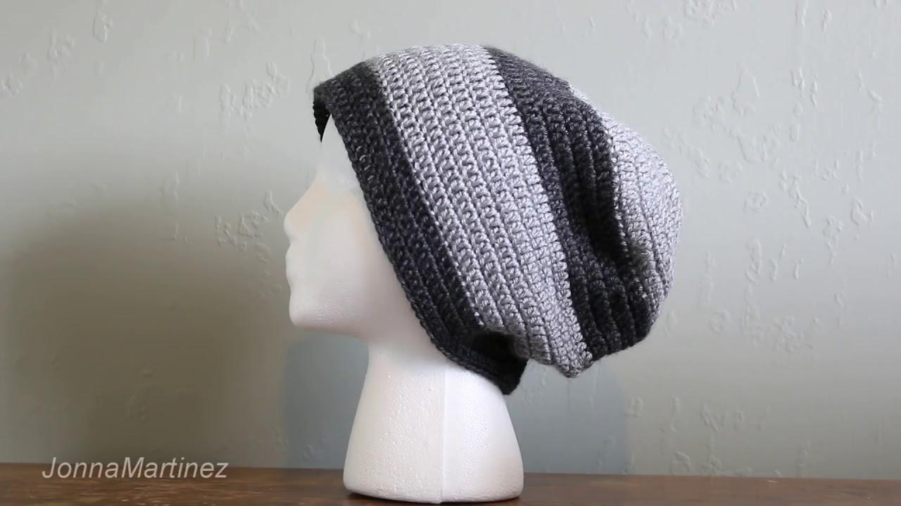 How To Crochet an EASY Men\'s Hat - YouTube