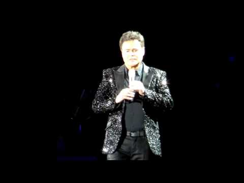 DONNY OSMOND BIRMINGHAM 03.02.17 LONG HAIRED LOVER FROM LIVERPOOL